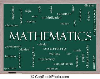 lavagna, concetto, parola, nuvola, matematica