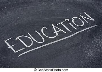 lavagna, educazione, parola