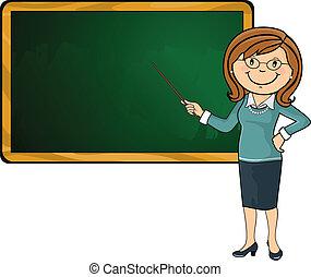 lavagna, insegnante