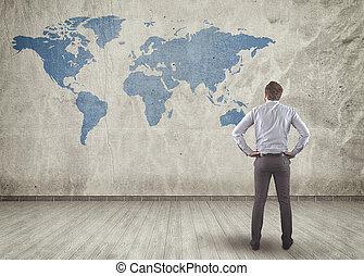 lavagna, mappa mondo