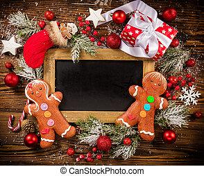 lavagna, scatole, vuoto, regalo natale