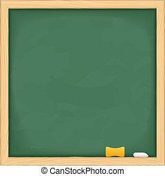 lavagna, verde, vuoto