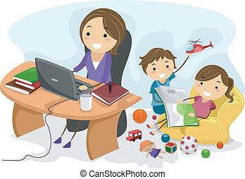 lavorando mamma