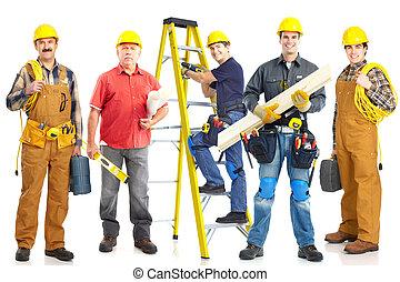 lavorante, industriale, group.