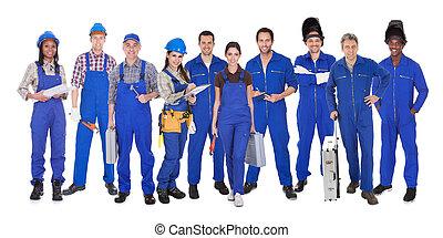 lavorante, industriale, gruppo
