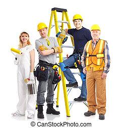 lavorante, persone, industriale