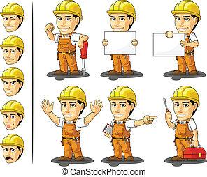 lavoratore, masc, industriale, costruzione