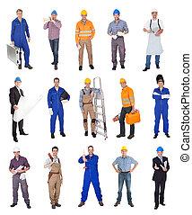 lavoratori industriali, costruzione