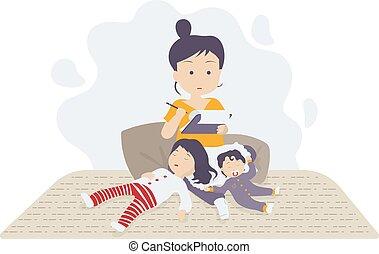 lavoro, bambini, manipolazione, casa