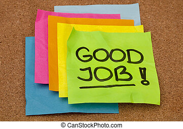 lavoro, buono, -, complimento