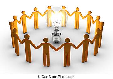 lavoro, idee, squadra