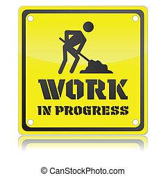 lavoro, isolato, illustrazione, singolo, vettore, progresso, icona