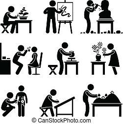 lavoro, lavoro, arte, artistico, occupazione
