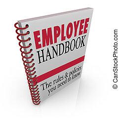 lavoro, regole, linee direttrici, manuale, policies, impiegato, seguire