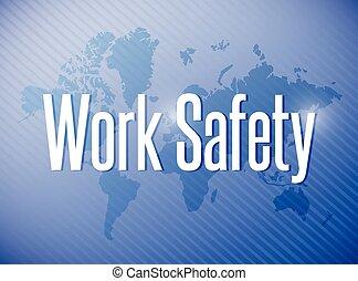 lavoro, segno, illustrazione, sicurezza