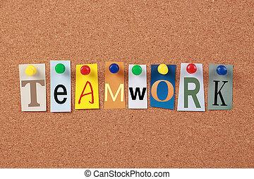 lavoro squadra, parola sola