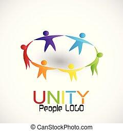 lavoro squadra, unità, vettore, persone