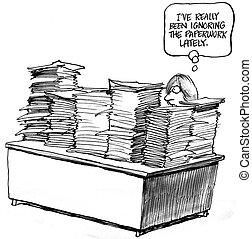 lavoro ufficio, i've, stato, ignorare, lately, really