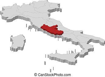 Cartina Politica Lazio.Lazio Mappa Evidenziato Italia Mappa Italia Lazio Politico Regioni Highlighted Parecchi Dove Canstock