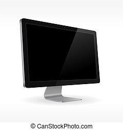 lcd, nero, monitor