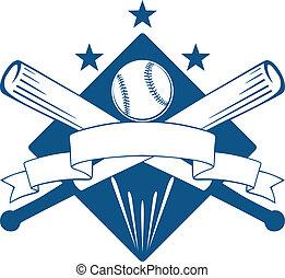 lega, campionato, emblema, o, baseball