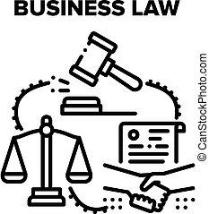 legge, affari, nero, illustrazioni, vettore