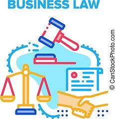 legge, concetto affari, vettore, colorare, illustrazione