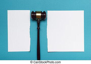 legge, famiglia, mezzi, divorzio, concept., legale, proprietà, sezione