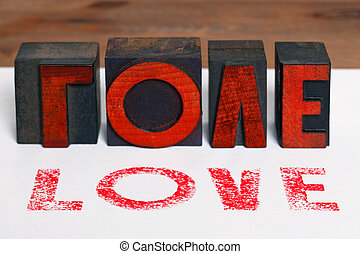 legno, amore, letterpress
