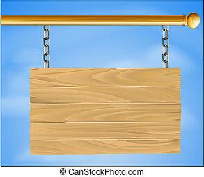 legno, appendendo segno