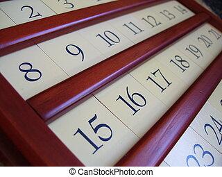 legno, calendario