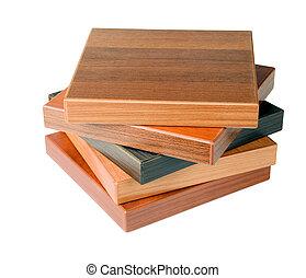 legno, campioni, pavimento