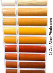 legno, campioni, varnishes
