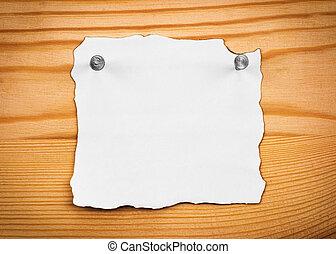 legno, carta, foglio, asse, vuoto