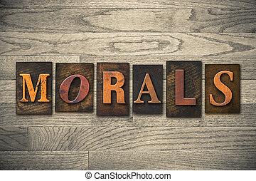 legno, concetto, tipo, morali, letterpress