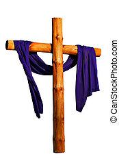 legno, croce, isolato