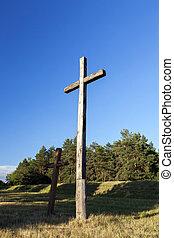 legno, croci, religione