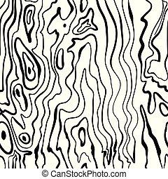 legno, dipinto, modello, seamless, struttura, mano, vettore, disegnato