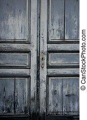 legno, door., vecchio