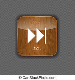 legno, icone, illustrazione, domanda, vettore, musica