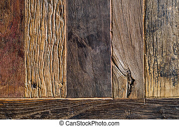 legno, invecchiato, fondo, sopra, assi