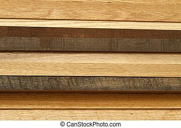 legno, legname, lato, pila
