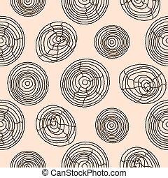 legno, legno, pattern., seamless, struttura, sughero, fondo., vettore