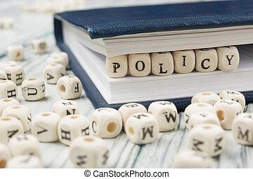 legno, legno, scritto, abc, politica, parola, block.