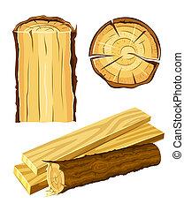 legno, materiale, legno, asse