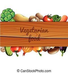 legno, molti, verdura, segno