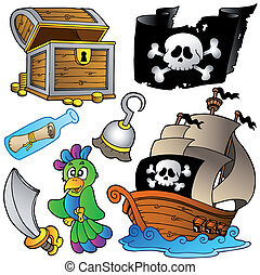 legno, nave, pirata, collezione