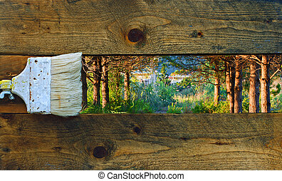 legno, pittura, vecchio, assi, natura