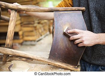legno, restaurazione, mobilia