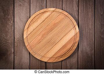 legno, scuro, tagliere, fondo